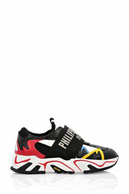 Кожаные кроссовки с яркими вставками Philipp Plein 1795175368