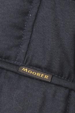 Темно-синий шерстяной пуховик Moorer 3117175058