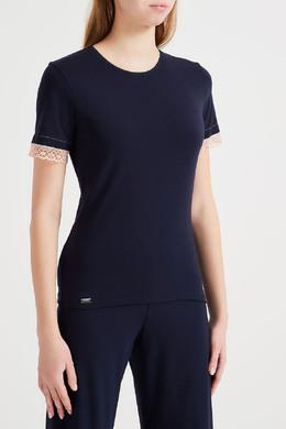 Синяя хлопковая футболка La Perla 2363175543