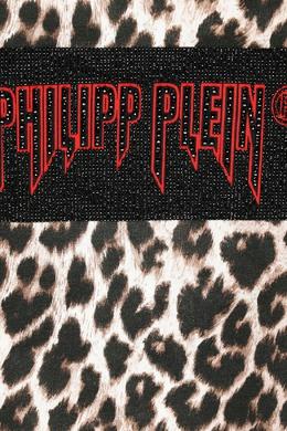 Свитшот с анималистическим принтом и логотипом Philipp Plein 1795175377