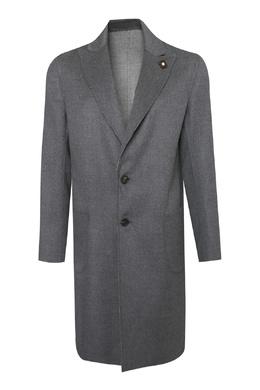 Серое пальто из шерсти Lardini 2453175098