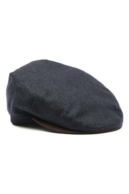 Темно-синяя шерстяная кепка Lardini 2453175091