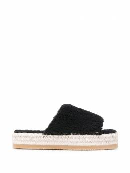 Mm6 Maison Margiela platform espadrille slides S59WP0066PS549