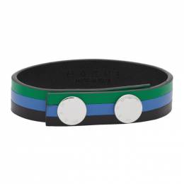 Marni Green and Blue Leather Bracelet BRZB0006A0 P3000