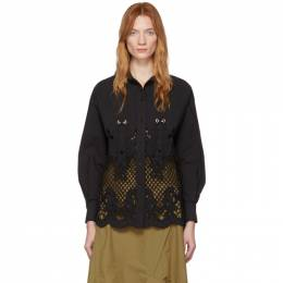 See By Chloe Black Broderie Anglaise Shirt CHS20SHT38022