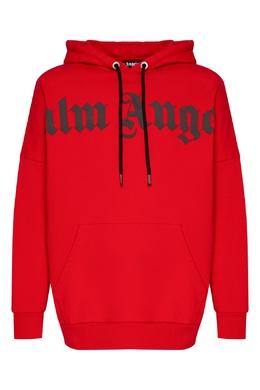 Ярко-красное худи с логотипом Palm Angels 1864175850