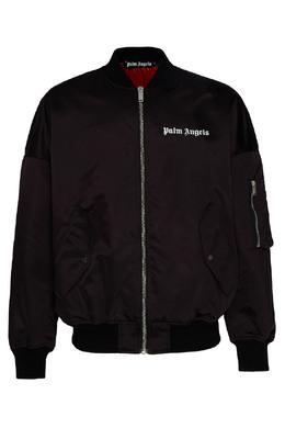 Куртка-бомбер с яркой подкладкой Palm Angels 1864175845