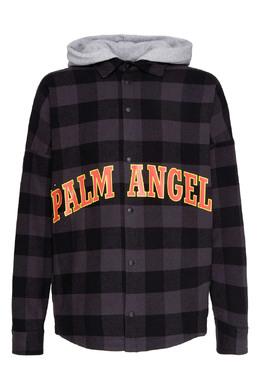 Клетчатая рубашка с капюшоном Palm Angels 1864175846