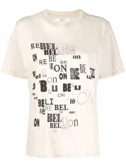 Isabel Marant Etoile футболка Rebellion из джерси TS069520P038E