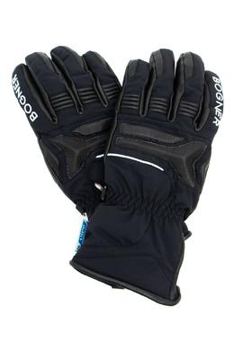 Черные лыжные перчатки с кожаной отделкой Bogner 1936176126