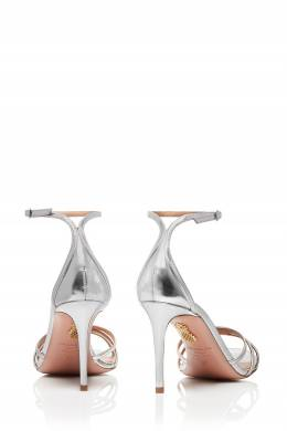 Серебристые босоножки Very Purist Sandal 85 Aquazzura 97582475