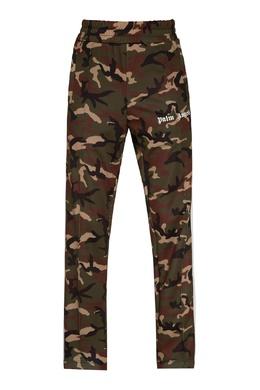 Зеленые брюки с узором Palm Angels 1864175862