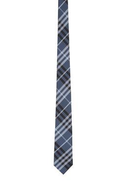 Синий галстук в клетку Burberry 10169599
