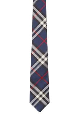 Синий галстук в контрастную клетку Burberry 10169605
