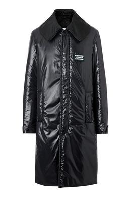 Утепленное пальто черного цвета Burberry 10168189
