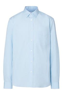 Голубая классическая рубашка Burberry 10169586