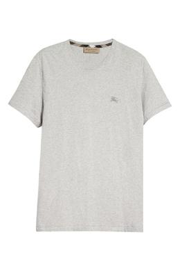 Серая футболка из трикотажа Burberry 10168995