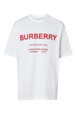 Белая футболка с красной надписью Burberry 10168534