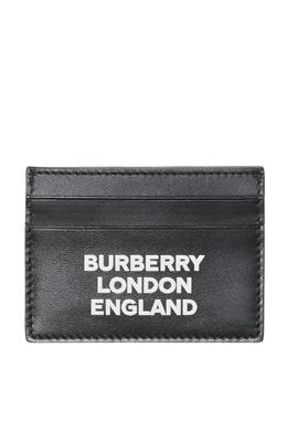 Черная визитница с логотипом Burberry 10168541