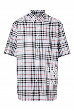 Серая клетчатая рубашка Burberry 10167933