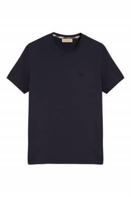 Темно-синяя футболка с логотипом Burberry 10167652
