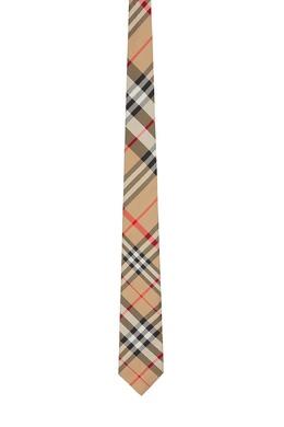 Бежевый галстук в клетку Burberry 10168782