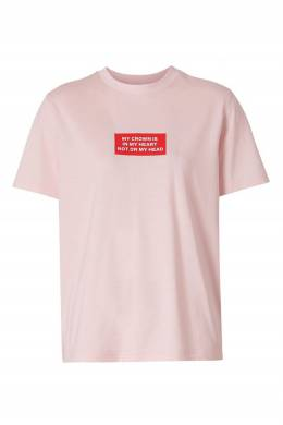 Розовая футболка с принтом Burberry 10169369