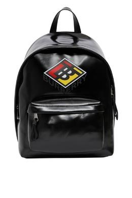 Черный рюкзак с логотипом Burberry 10168358