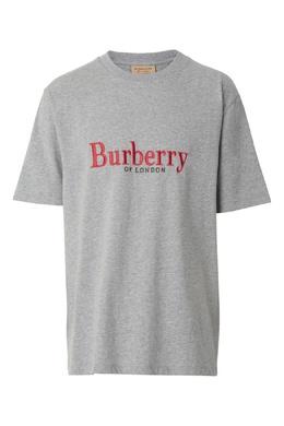 Серая футболка с логотипом Burberry 10167951