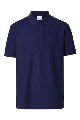 Темно-синяя футболка с воротником поло Burberry 10169390