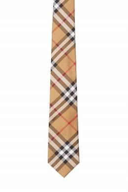 Бежевый галстук в фирменную клетку Burberry 10168704