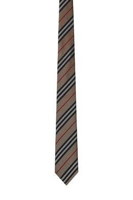 Серый галстук в полоску Burberry 10168622