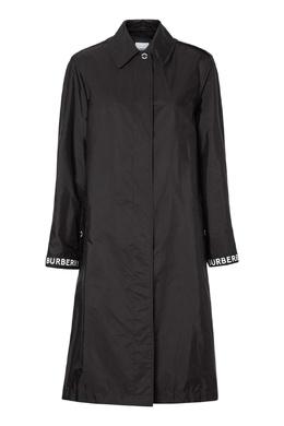 Длинный плащ черного цвета Burberry 10168402