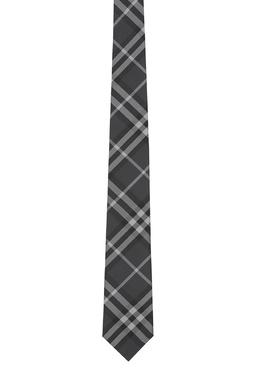 Серый галстук в фирменную клетку Burberry 10167631