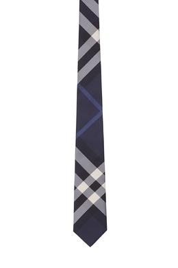 Клетчатый синий галстук Burberry 10168479