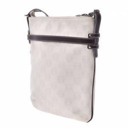 Loewe White/Brown PVC Shoulder Bag