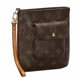 Louis Vuitton Monogram Partition Clutch Bag