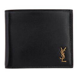 Saint Laurent Black Tiny Monogramme East/West Wallet 60772702G0W