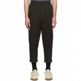 Ami Alexandre Mattiussi Brown Carrot Trousers P20HT617.248