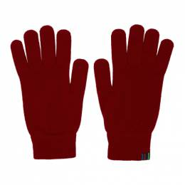 Ps by Paul Smith Red Wool Gloves M2A-641E-AV250