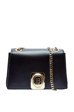 Черная сумка из гладкой кожи Balmain 88177657