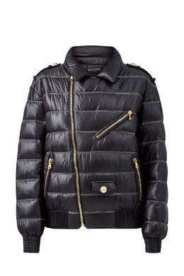 Стеганая куртка с контрастной отстрочкой Balmain 88177653