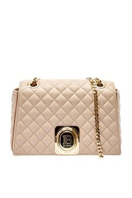 Стеганая сумка розового цвета Balmain 88177655