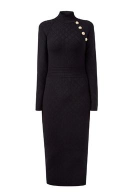 Платье миди из трикотажа Balmain 88177647