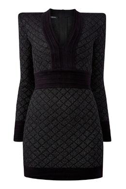 Короткое платье с глубоким вырезом Balmain 88177641