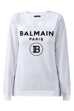 Свитшот оверсайз белого цвета Balmain 88177609