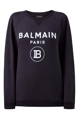 Черный свитшот с треугольной вставкой Balmain 88177608