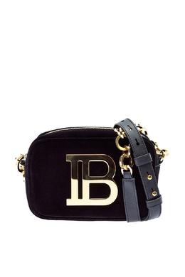 Маленькая бархатная сумка B-Camera Bag Balmain 88177662