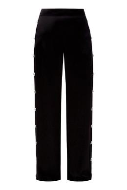 Атласные брюки с пуговицами Balmain 88177600