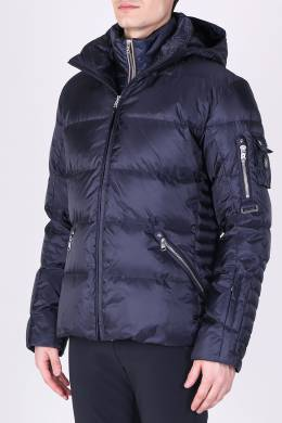 Темно-синяя стеганая куртка с капюшоном Bogner 1936177289
